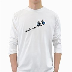 Tees Make Omissions White Long Sleeve Man''s T-shirt