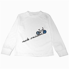 Tees Make Omissions White Long Sleeve Kids'' T-shirt