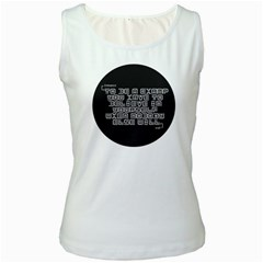 TeeMazing White Womens  Tank Top