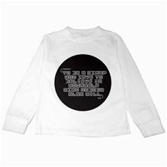 TeeMazing White Long Sleeve Kids'' T-shirt
