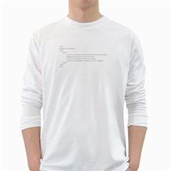 Tees Love Word Black White Long Sleeve Man''s T-shirt