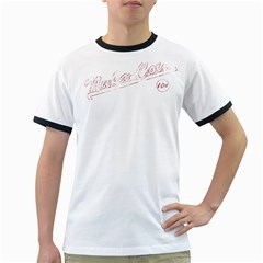 Nuka Cola White Ringer Mens'' T-shirt