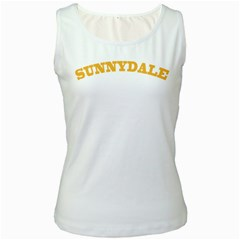 Sd White Womens  Tank Top