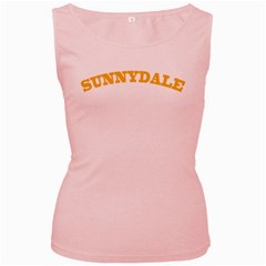 Sd Pink Womens  Tank Top