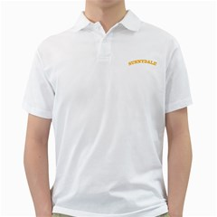 Sd White Mens  Polo Shirt