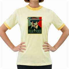 Hst Colored Ringer Womens  T-shirt