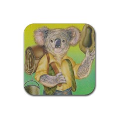 Koala Swag Hat Rubber Drinks Coaster (square)