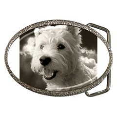 Westie Puppy Belt Buckle (oval)