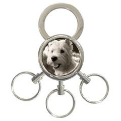 Westie.puppy 3-Ring Key Chain