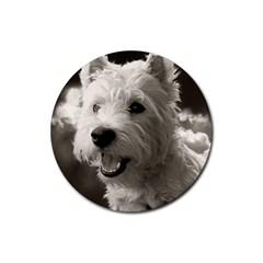 Westie.puppy Rubber Drinks Coaster (Round)