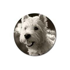 Westie Puppy Large Sticker Magnet (round)