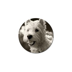 Westie Puppy Golf Ball Marker