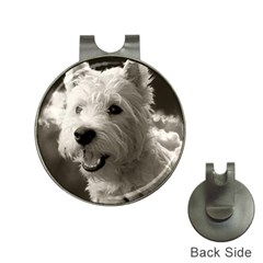 Westie Puppy Hat Clip With Golf Ball Marker