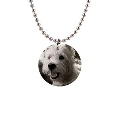 Westie Puppy Mini Button Necklace