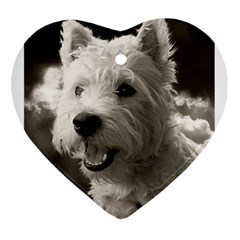 Westie.puppy Heart Ornament (Two Sides)