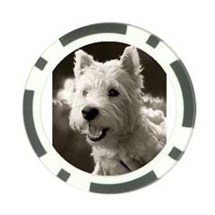 Westie Puppy Poker Chip