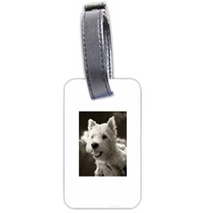 Westie Puppy Twin Sided Luggage Tag