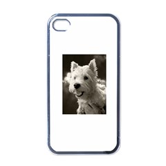 Westie Puppy Black Apple Iphone 4 Case