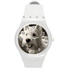 Westie.puppy Round Plastic Sport Watch Medium