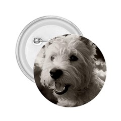 Westie Puppy Regular Button (round)