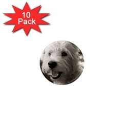 Westie.puppy 10 Pack Mini Magnet (Round)