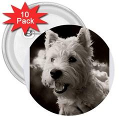 Westie.puppy 10 Pack Large Button (Round)