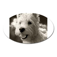 Westie.puppy Large Sticker Magnet (Oval)