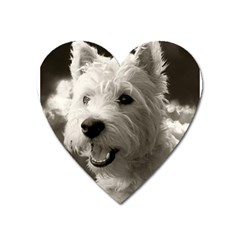 Westie Puppy Large Sticker Magnet (heart)