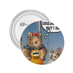 Wombat Woman Regular Button (round)