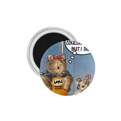 Wombat Woman Small Magnet (Round)