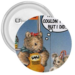 Wombat Woman Large Button (Round)