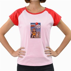 Wombat Woman Colored Cap Sleeve Raglan Womens  T-shirt