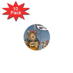 Wombat Woman 10 Pack Mini Button (Round)