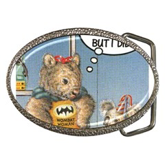 Wombat Woman Belt Buckle (Oval)