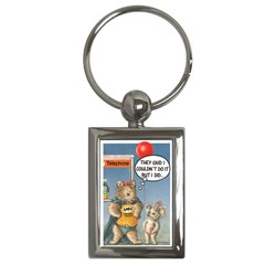 Wombat Woman Key Chain (rectangle)