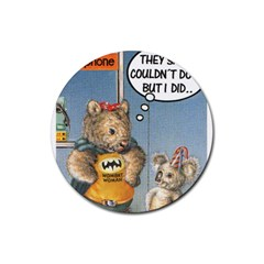 Wombat Woman 4 Pack Rubber Drinks Coaster (Round)