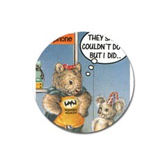 Wombat Woman Large Sticker Magnet (round)