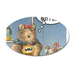 Wombat Woman Large Sticker Magnet (oval)