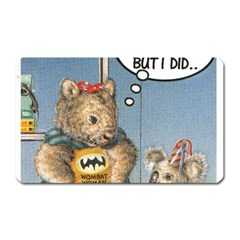 Wombat Woman Large Sticker Magnet (Rectangle)