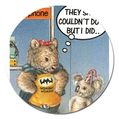 Wombat Woman Extra Large Sticker Magnet (round)
