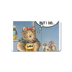 Wombat Woman Name Card Sticker Magnet