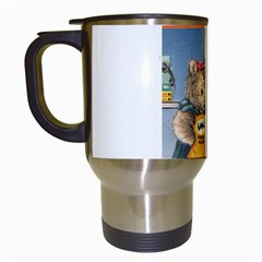 Wombat Woman White Travel Mug