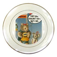 Wombat Woman Porcelain Display Plate