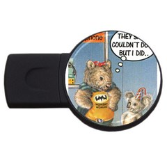 Wombat Woman 4Gb USB Flash Drive (Round)