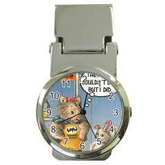Wombat Woman Chrome Money Clip with Watch
