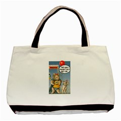 Wombat Woman Black Tote Bag