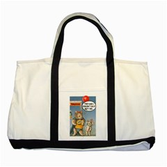 Wombat Woman Two Toned Tote Bag