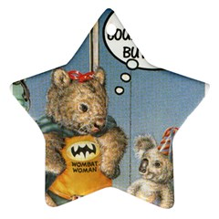 Wombat Woman Twin-sided Ceramic Ornament (Star)