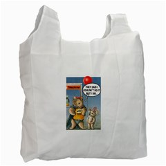 Wombat Woman Twin-sided Reusable Shopping Bag