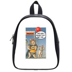 Wombat Woman Small School Backpack